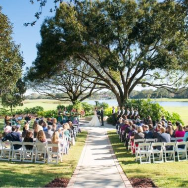 Legends Courtyard - outdoor garden wedding venue at Mission Inn Resort