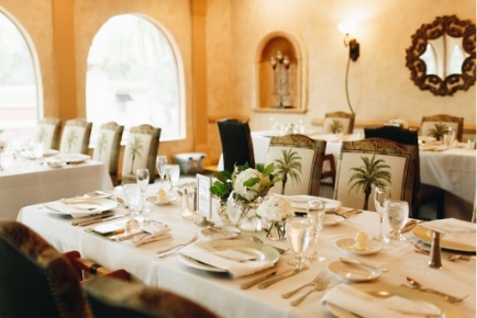El Conquistador - intimate indoor wedding reception venue at Mission Inn Resort