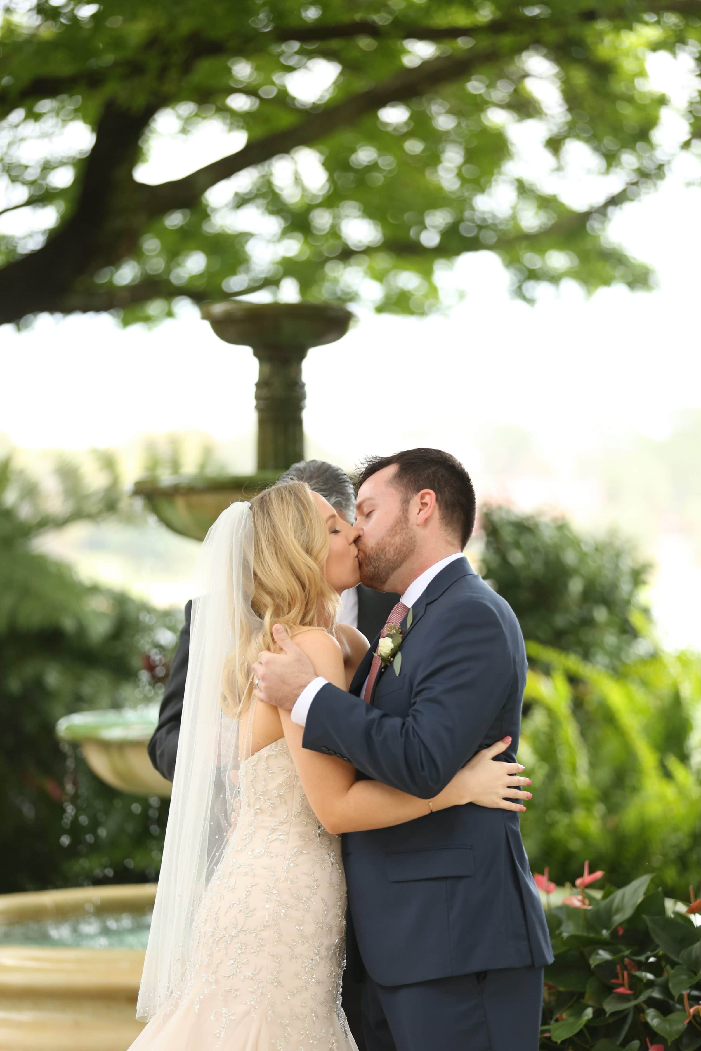 First kiss in Legends Courtyard
