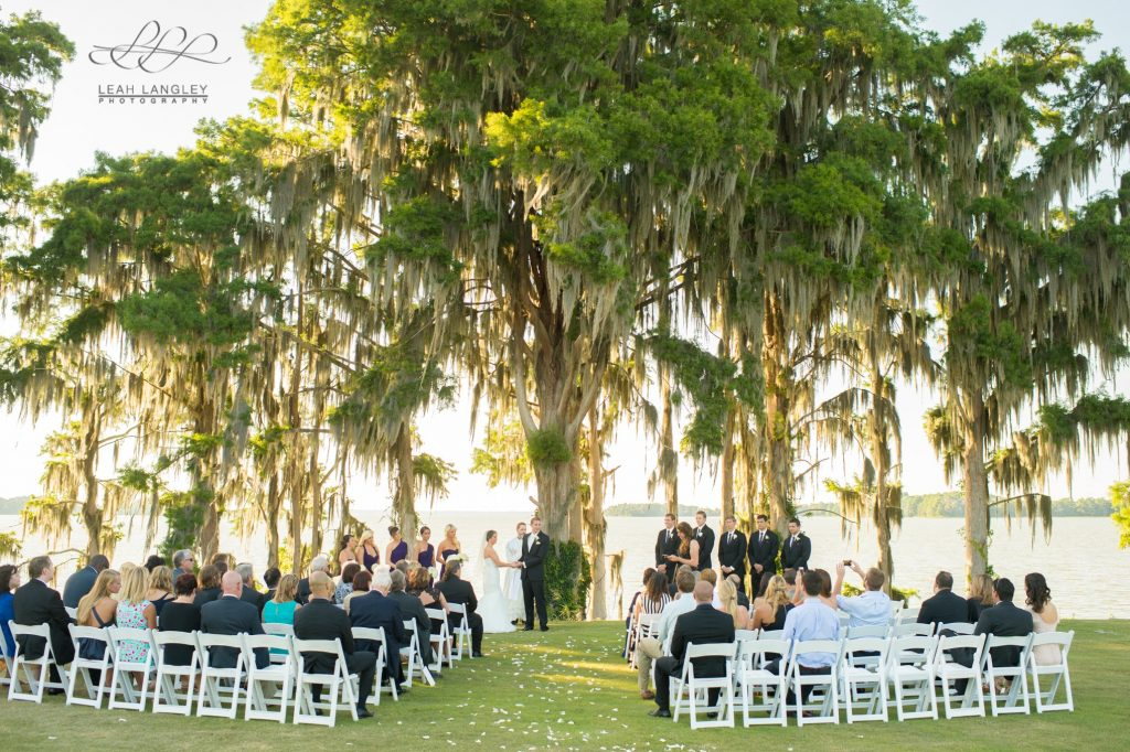 Marina del Rey - wedding ceremony under huge tree