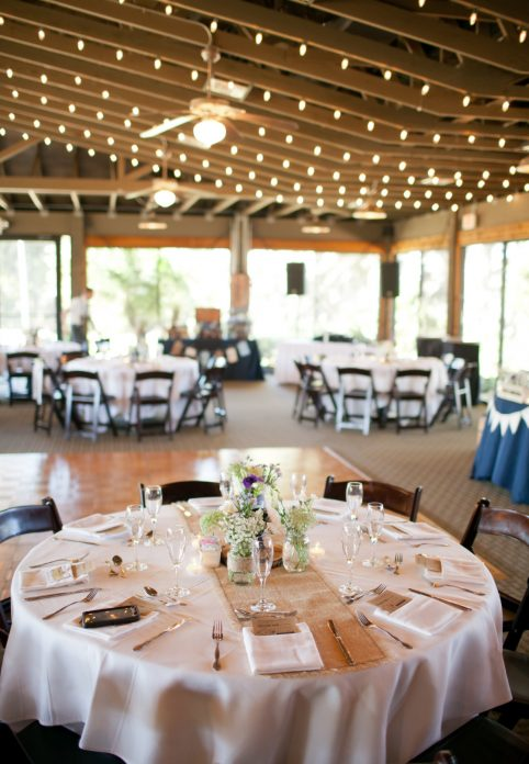 Rustic reception table at Marina del Rey