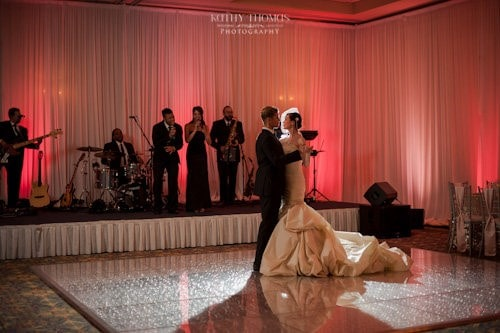 The Grand Ballroom - couple's first dance with live band