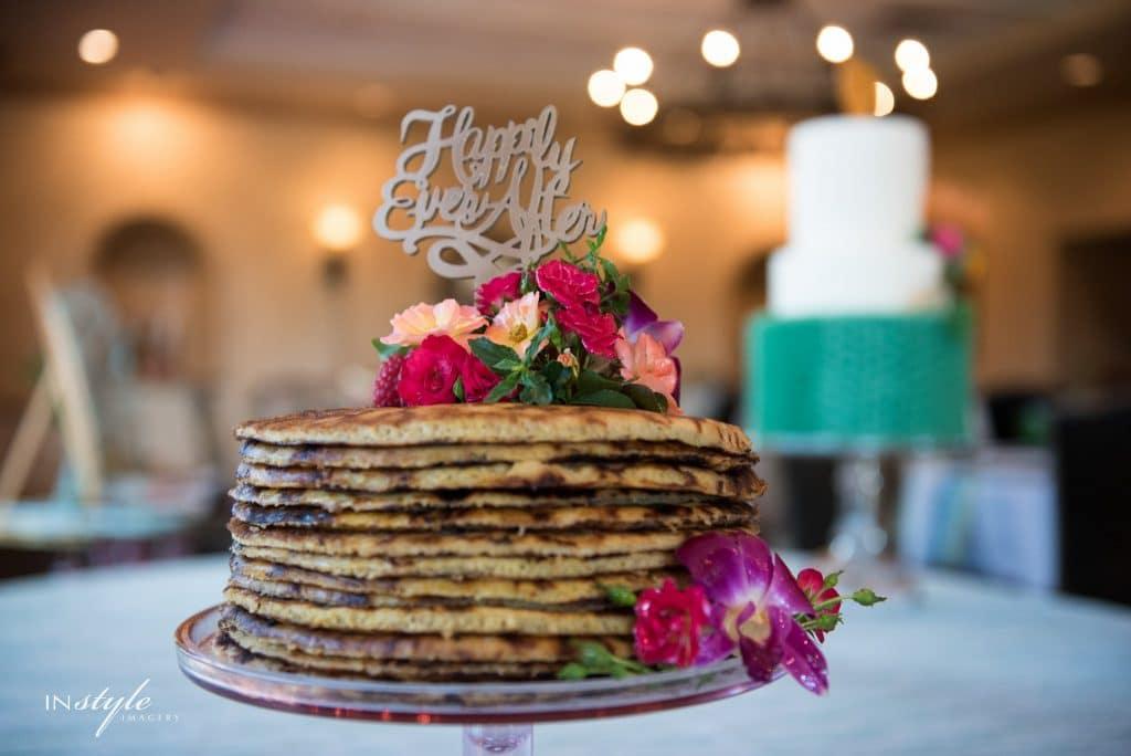 El Conquistador - wedding stack of pancakes in lieu of cake