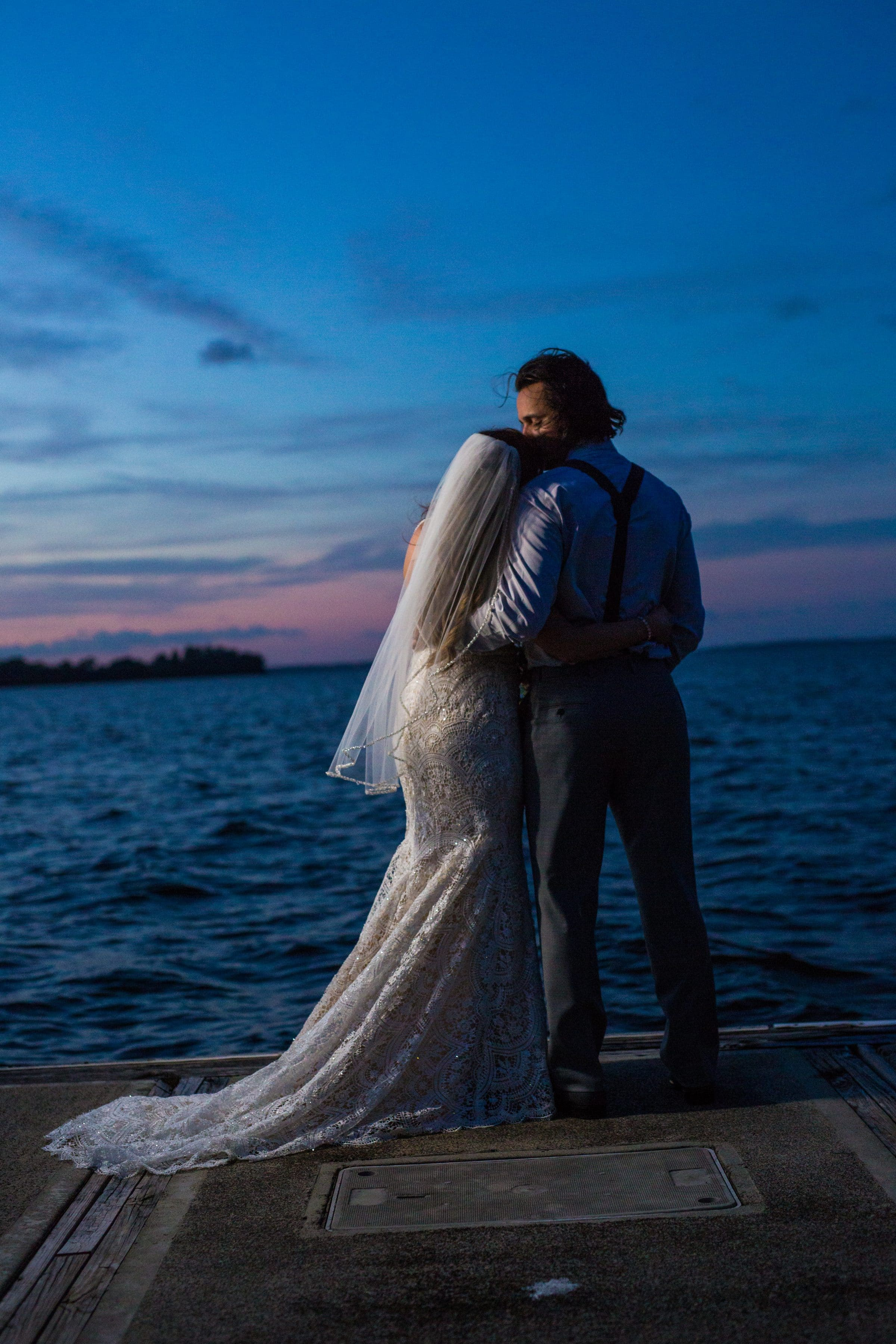 Couple on dock at Lake Harris