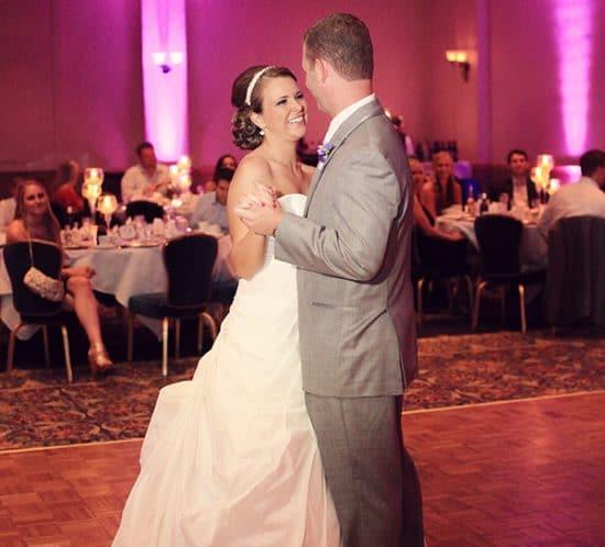 Stephanie and Joe's first dance