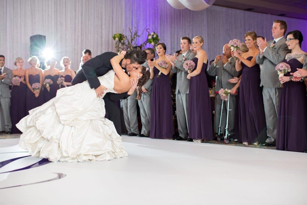 The Grand Ballroom - groom dipping bride on dance floor
