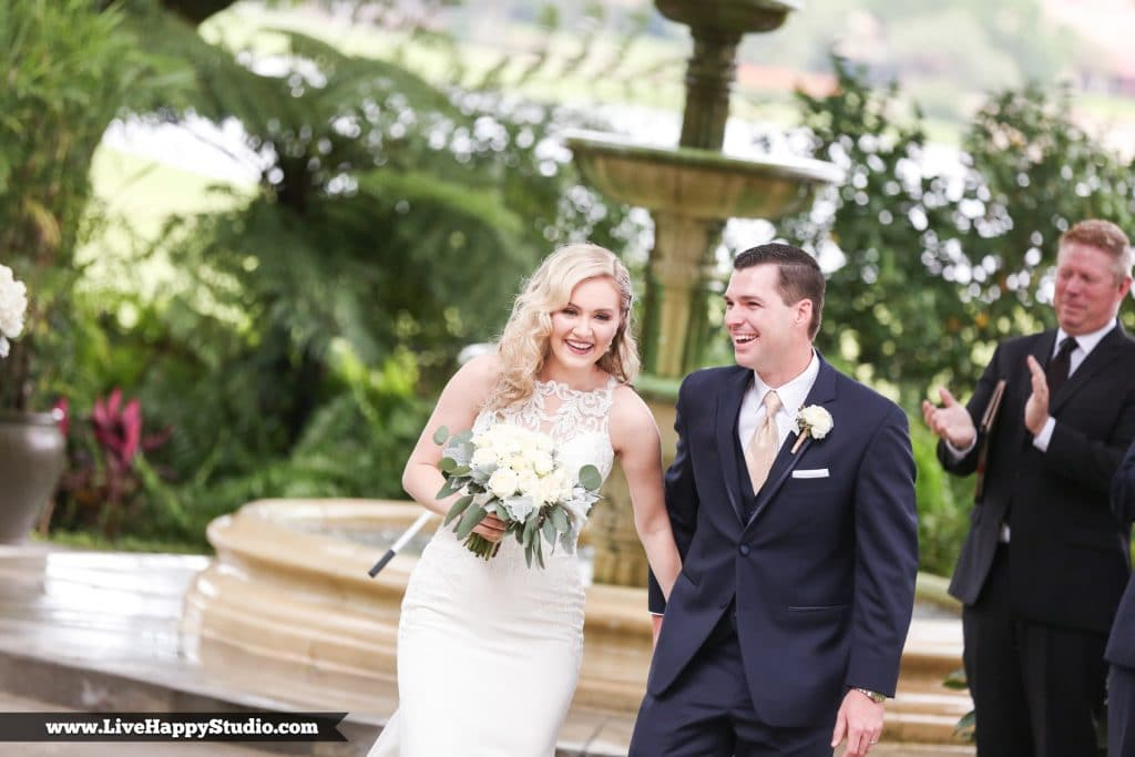 Legends Courtyard - happy couple just married