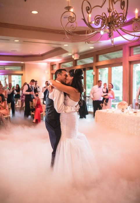 La Hacienda - bride and groom first dance on a cloud
