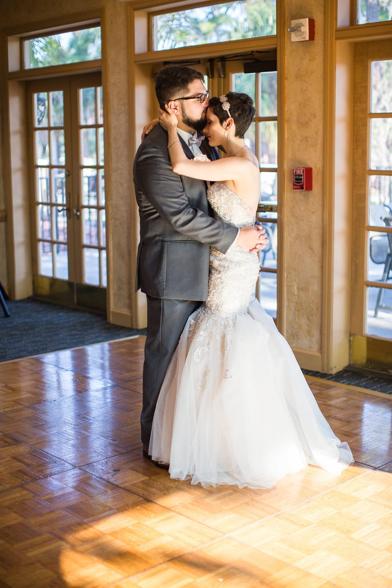 Bride and groom's first intimate dance at El Conquistador