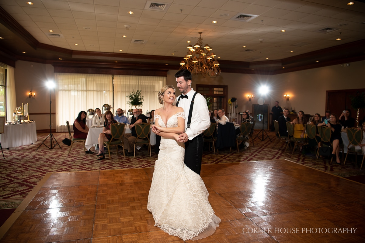Bride and groom share intimate first dance