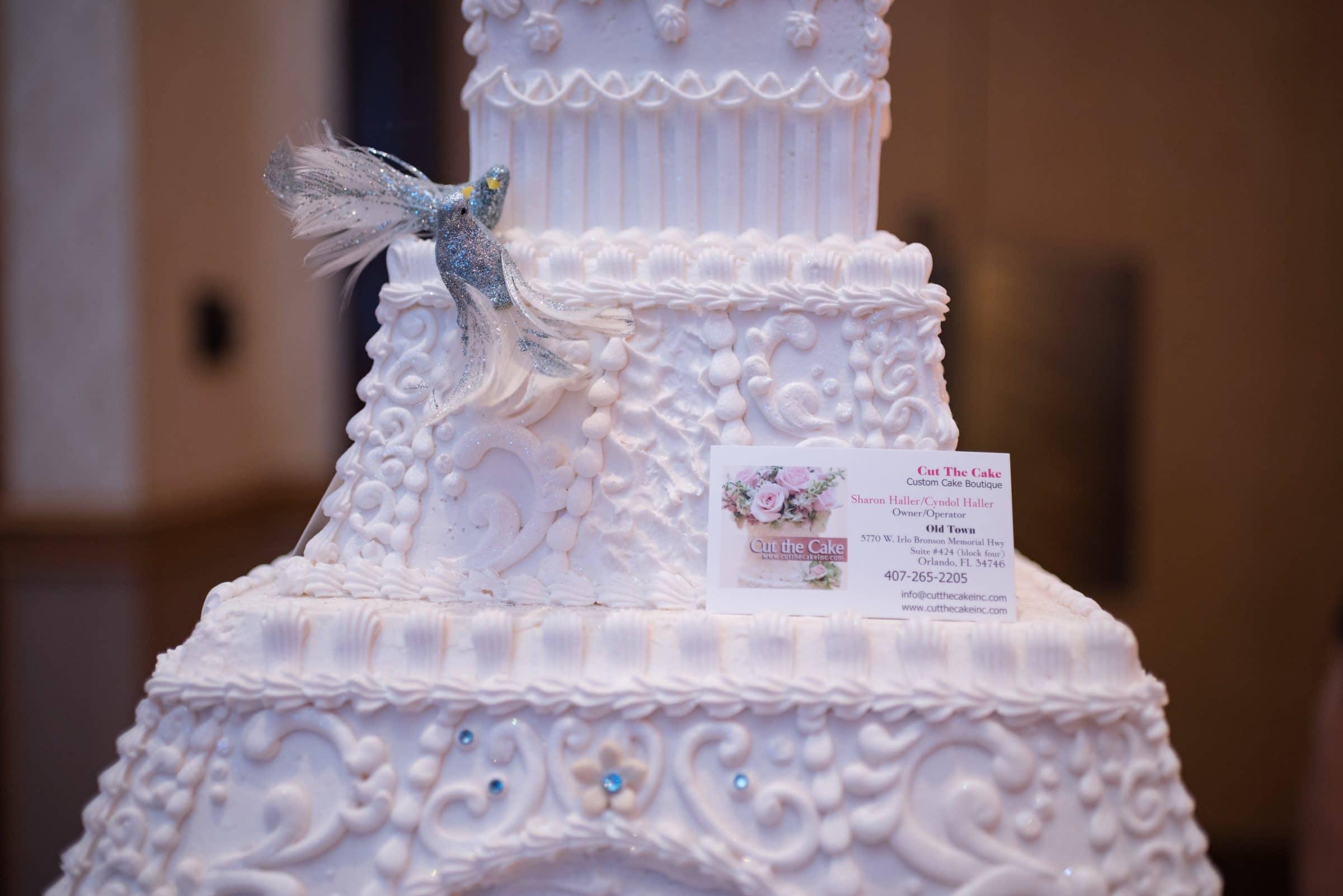 Eiffel Tower Shaped Wedding Cake