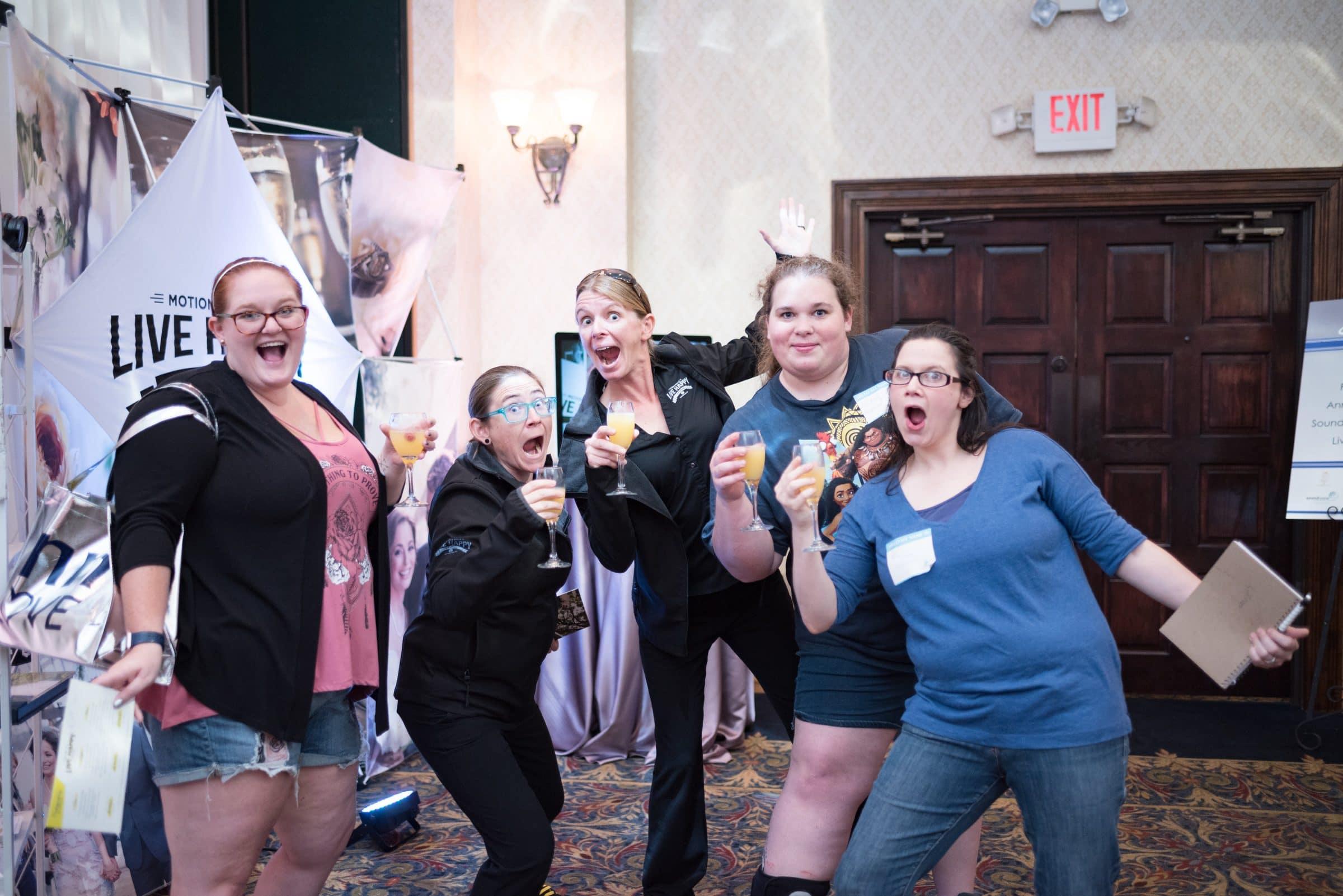 Five Women Celebrating