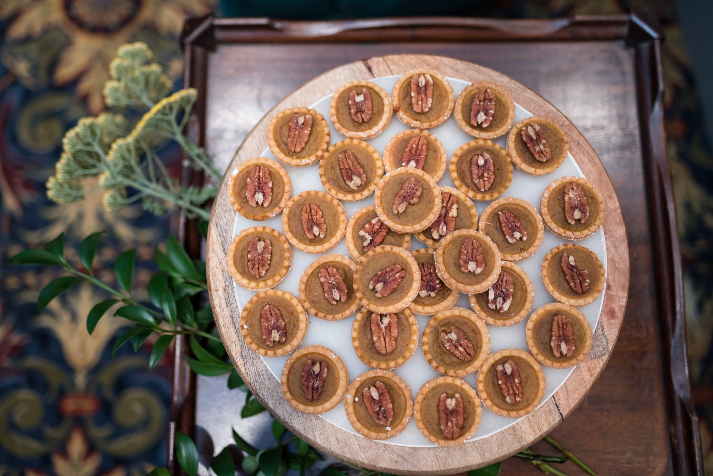 Tray of Miniature Pecan Pies