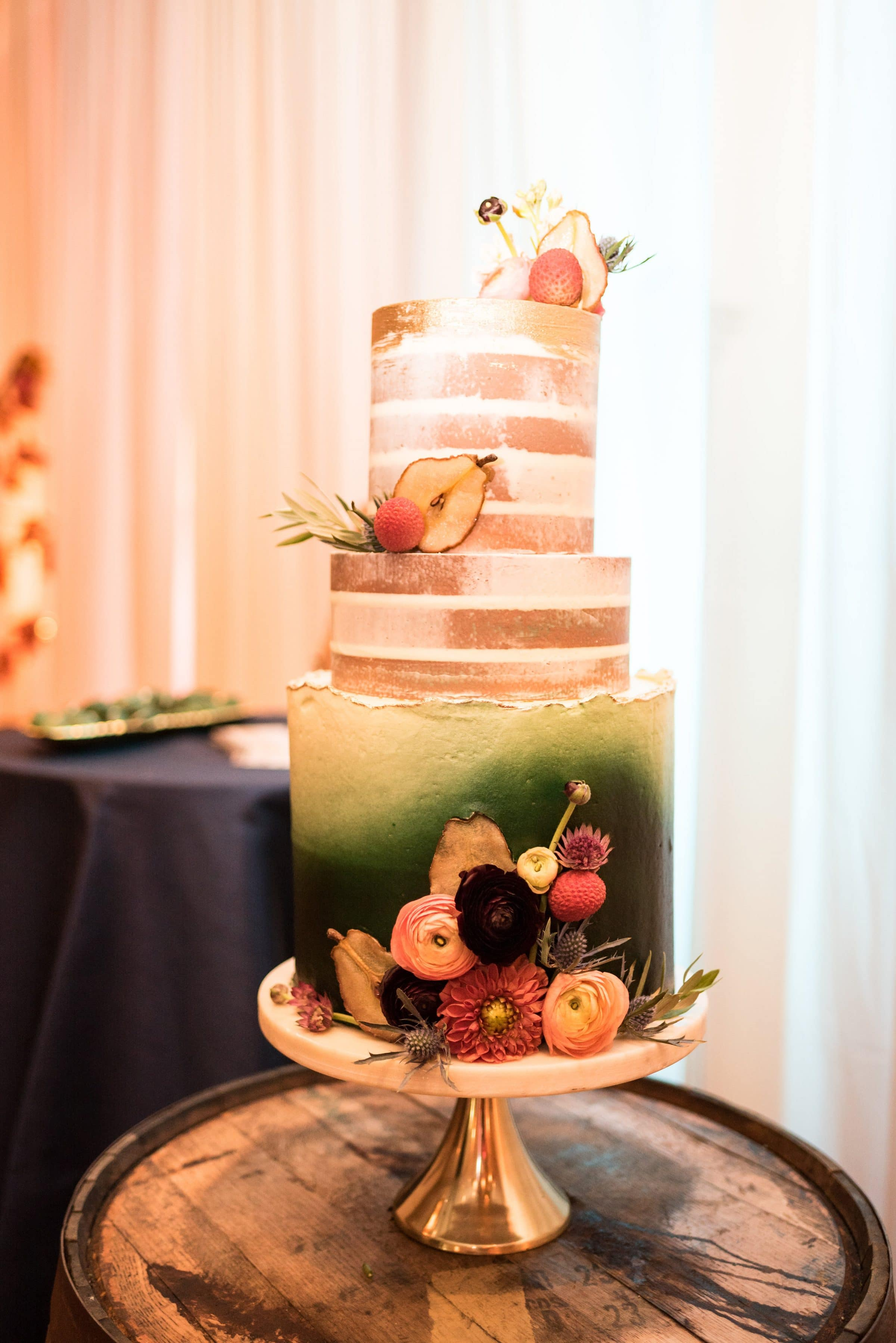 Fall Inspired Wedding Cake by Le Petit Sweet
