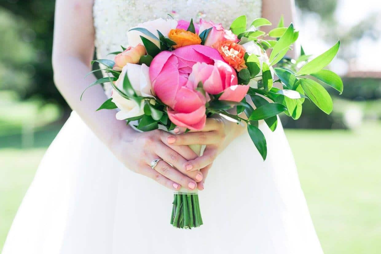 Summer Citrus Wedding Bouquet Close Up