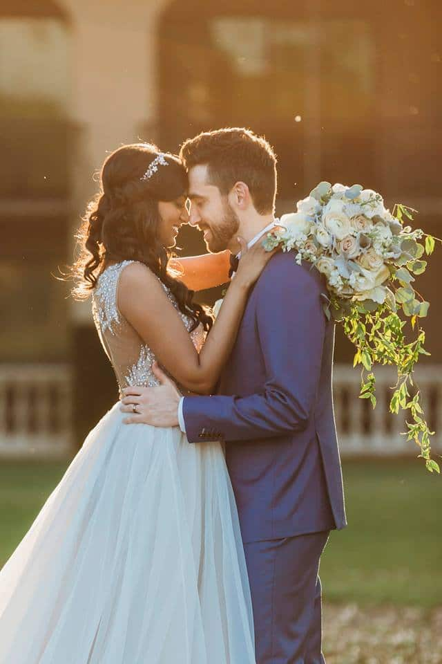 Bride and Groom Elegant Earthy Wedding Bouquet