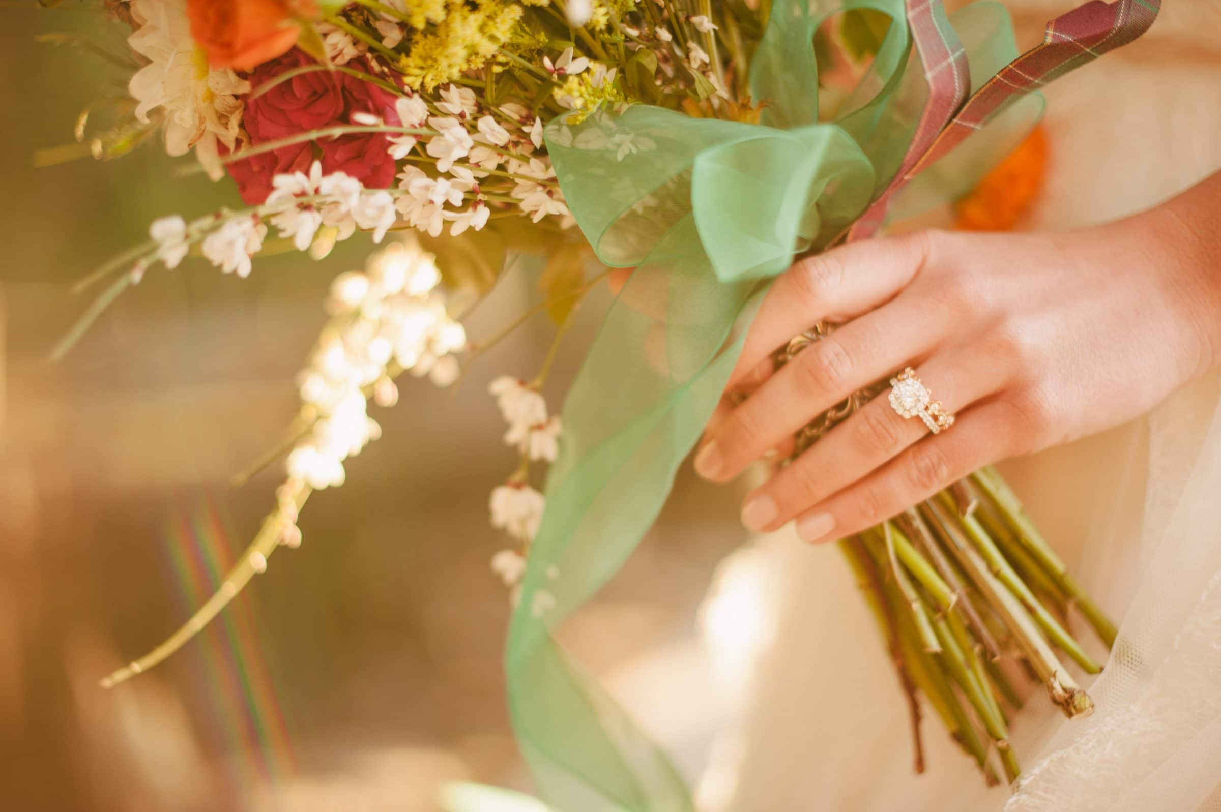 Beautiful Boho Wedding Bouquet Wide