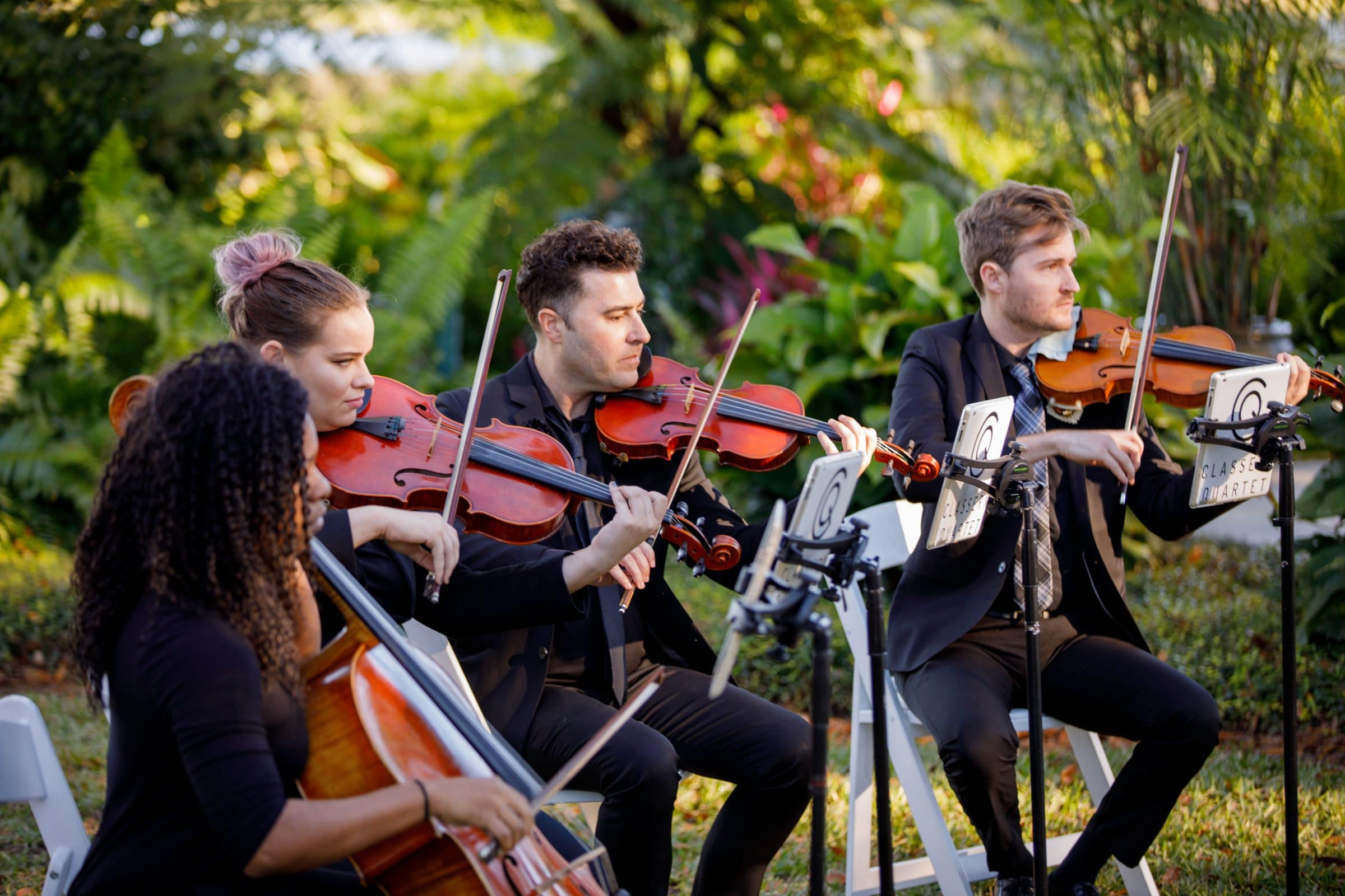 String Quartet Playing at Wedding Ceremony