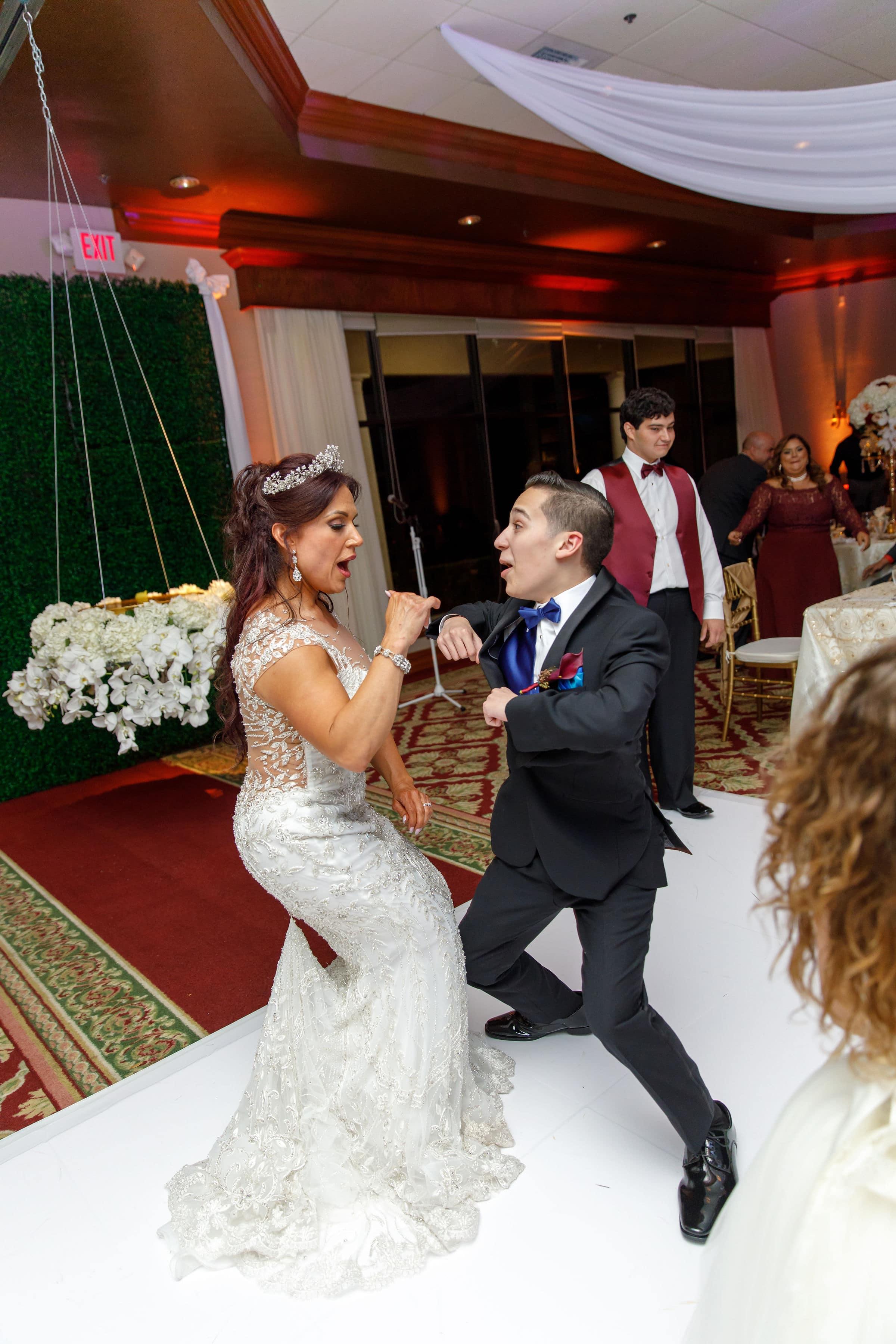 Bride dancing during reception