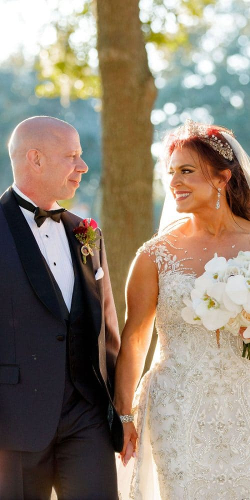 romantic burgundy and gold wedding weekend bride and groom