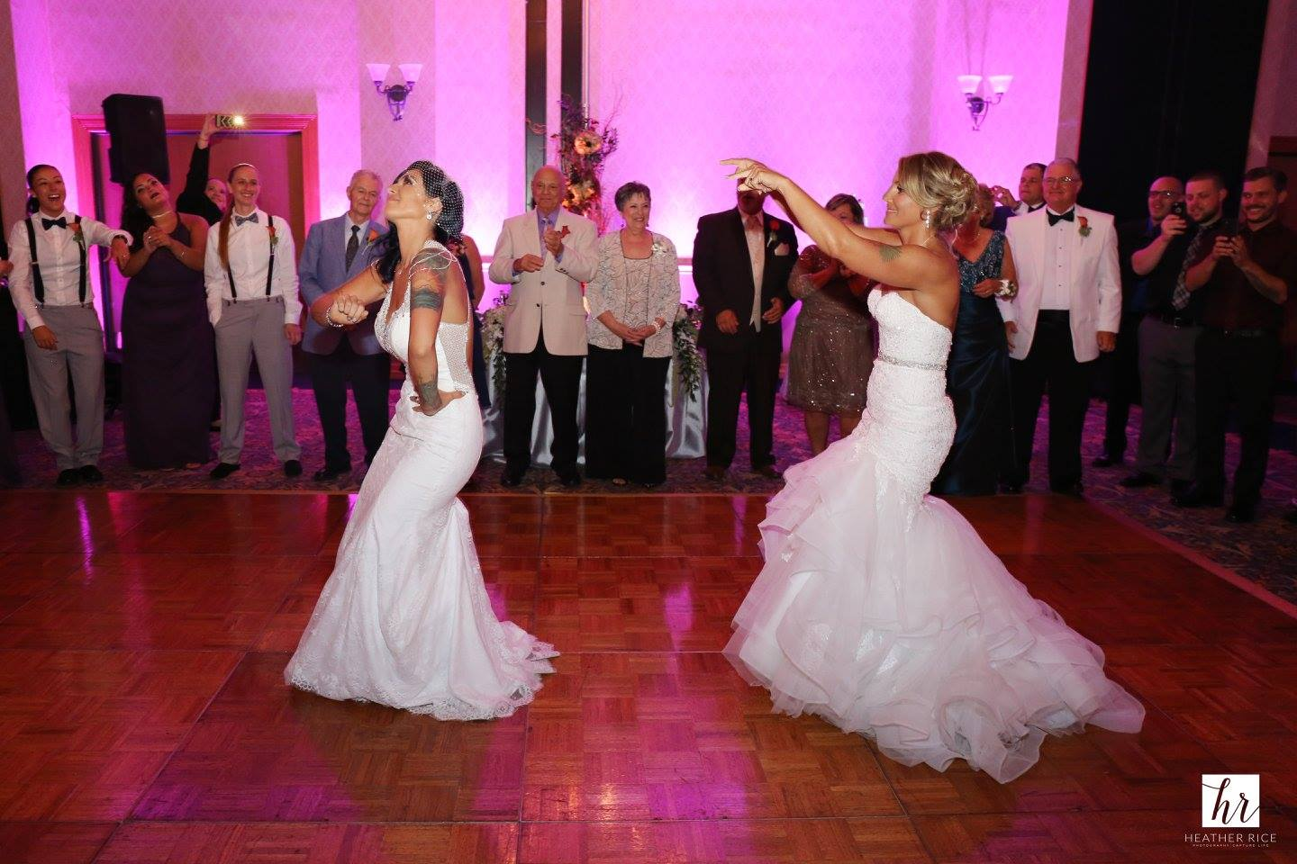 Two Brides Dancing at Same Sex Ballroom Wedding in Orlando