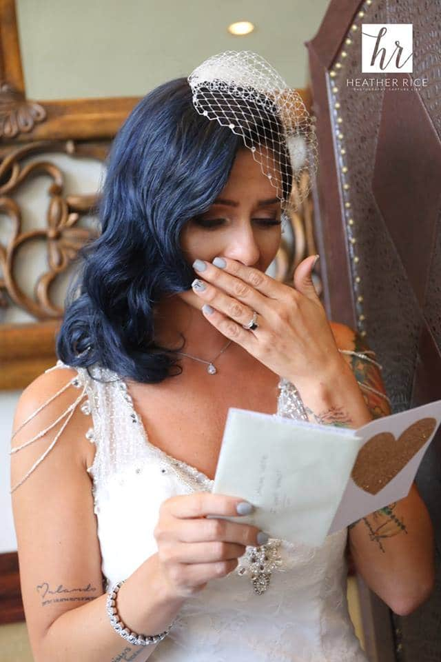 Wedding Day Love Letter Reading