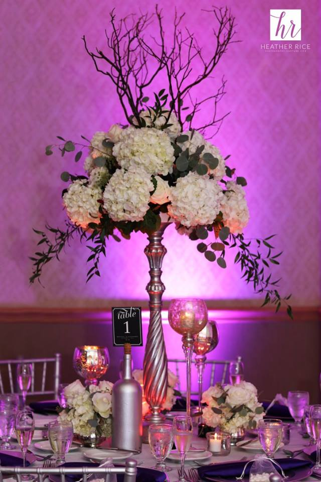 Ballroom Wedding in Orlando Centerpiece