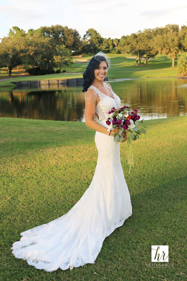 Gorgeous Bride on Golf Course