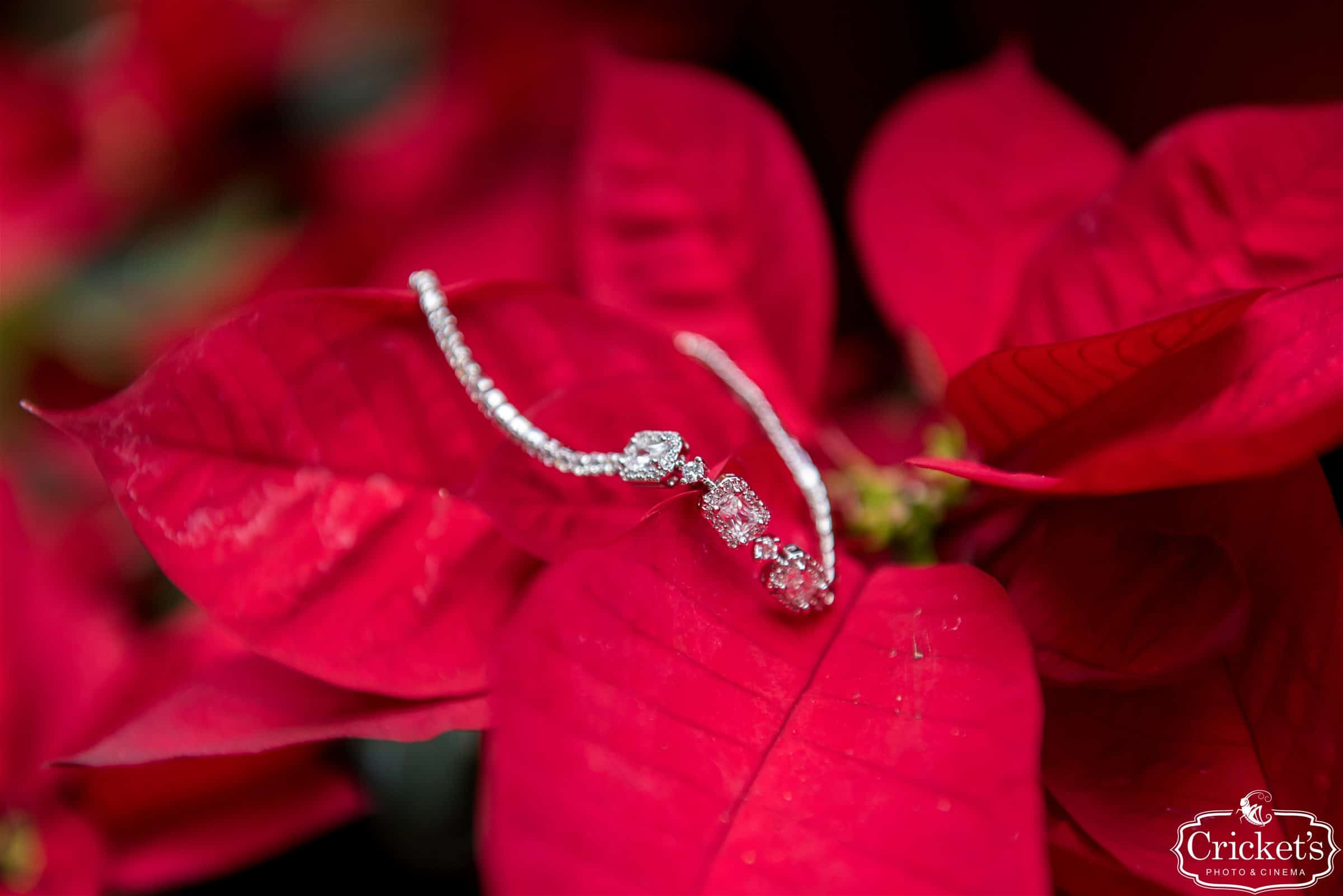 Wedding Jewelry on Christmas Poinsettia