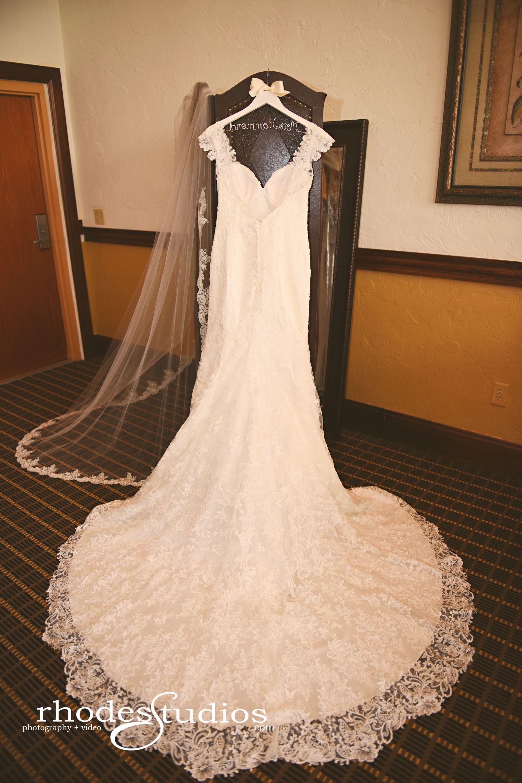 Brides Wedding Dress Hanging