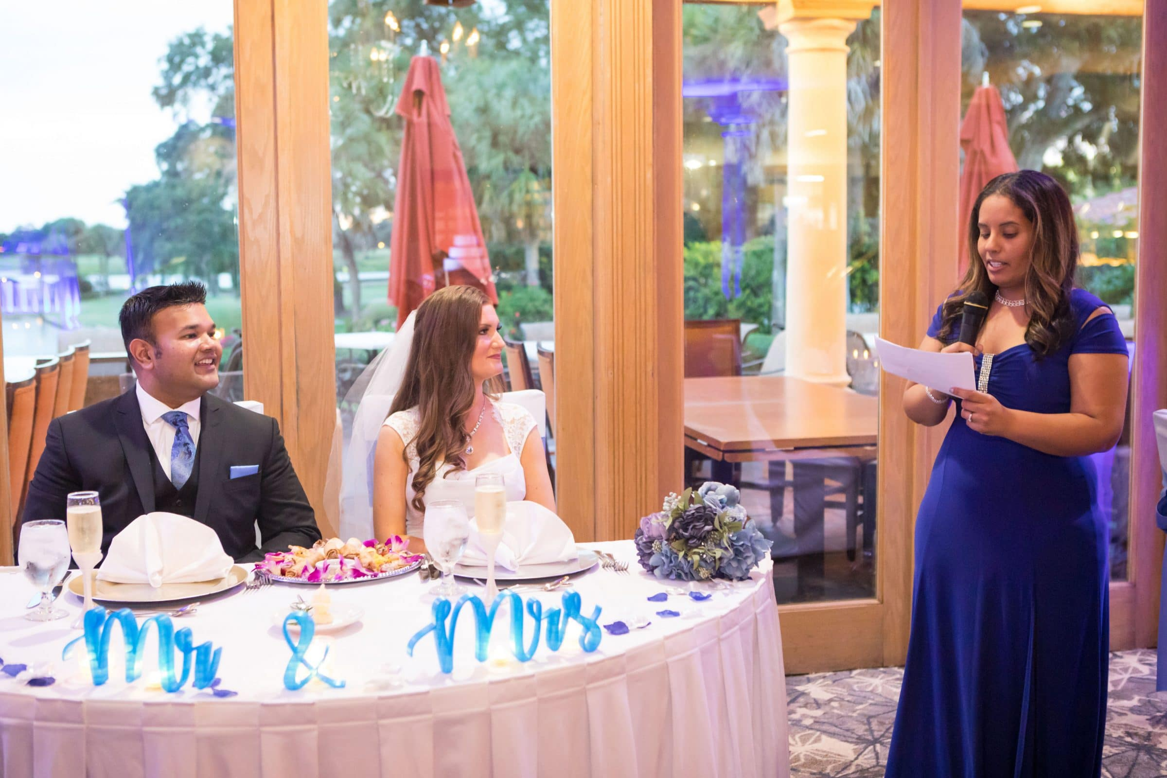 Wedding Toasts with Bride and Groom