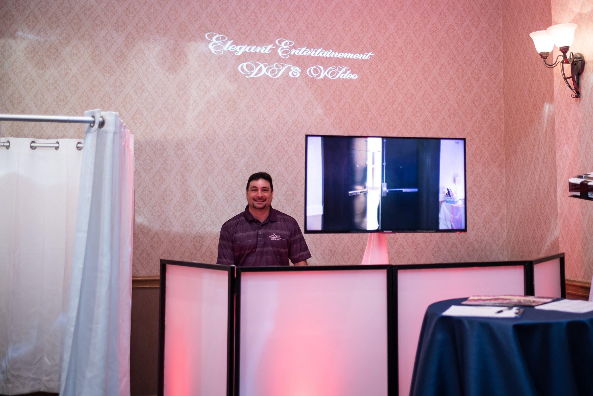 DJ Joe Moralis Elegant Entertainment at booth