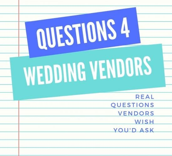 Questions to ask your Wedding Vendor on Lined Paper