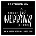green wedding shoes badge