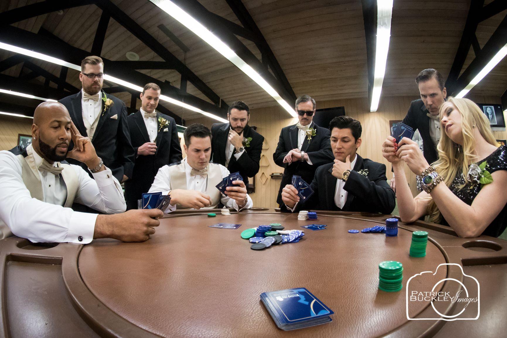Groomsmen Betting on their wedding venue