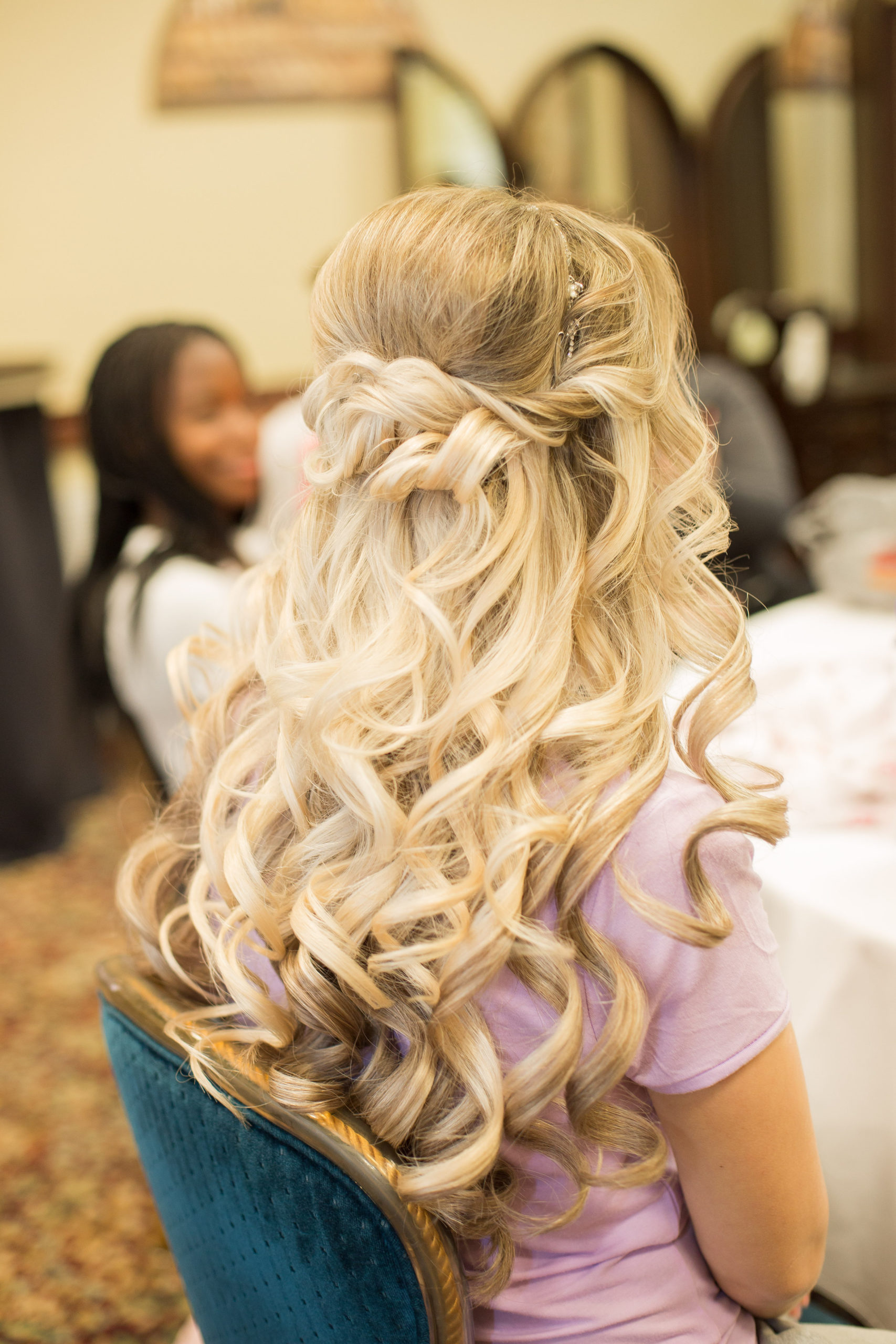 classic wedding bridal hair style