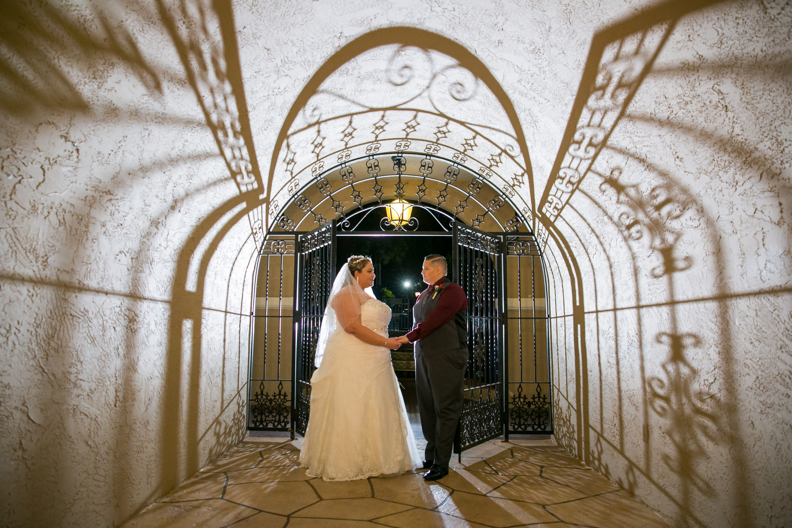 Two Brides at Iron Gates with Shadows
