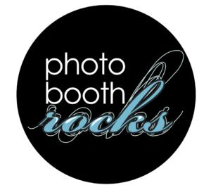 Photo Booth Rocks Orlando black and white wedding show logo