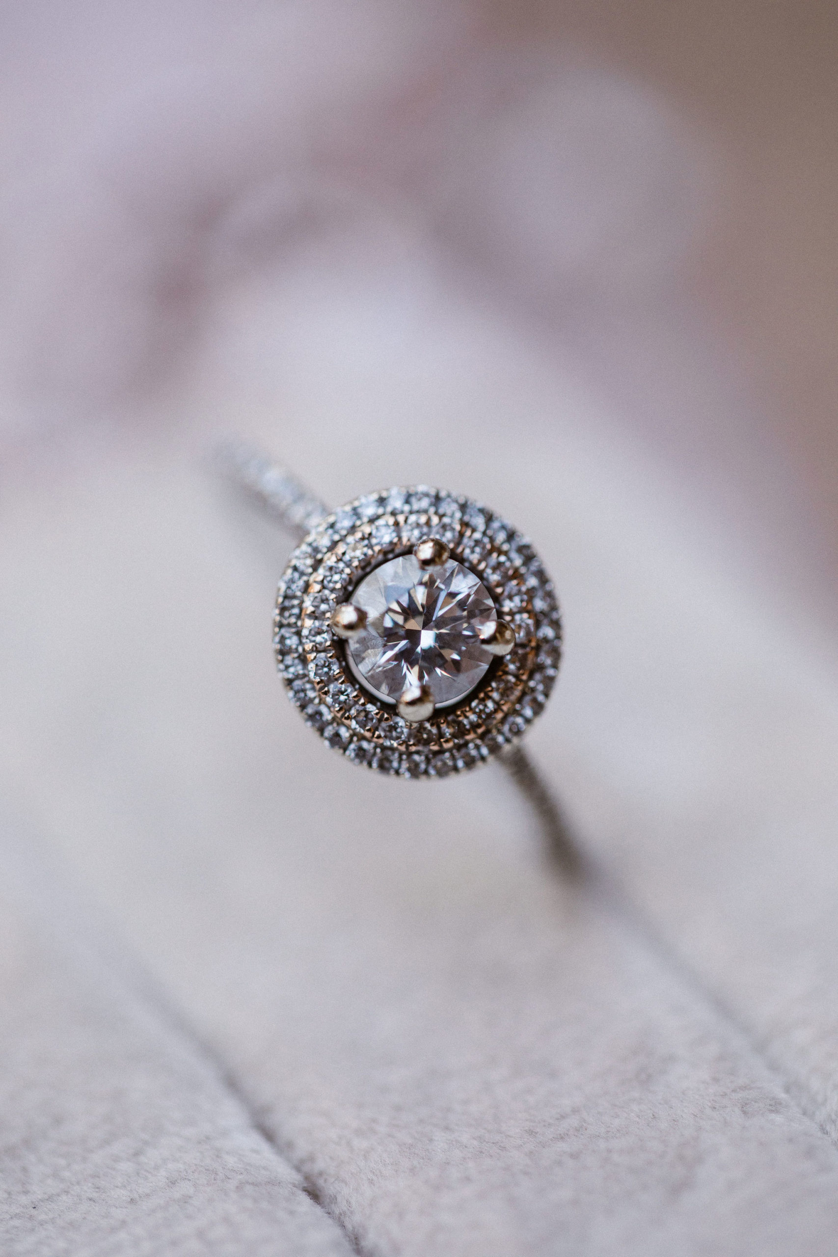 close up picture of engagement ring