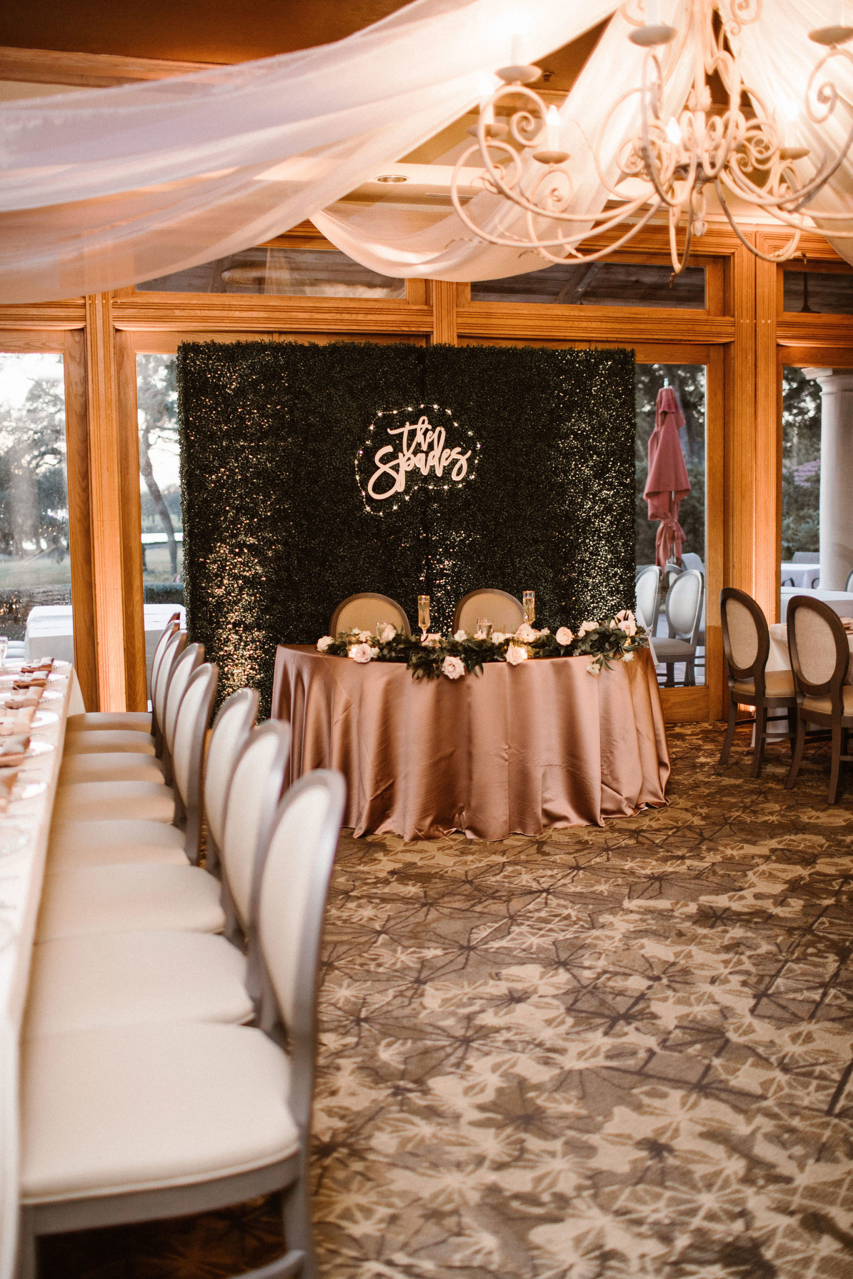 ivory, latte and mauve wedding reception