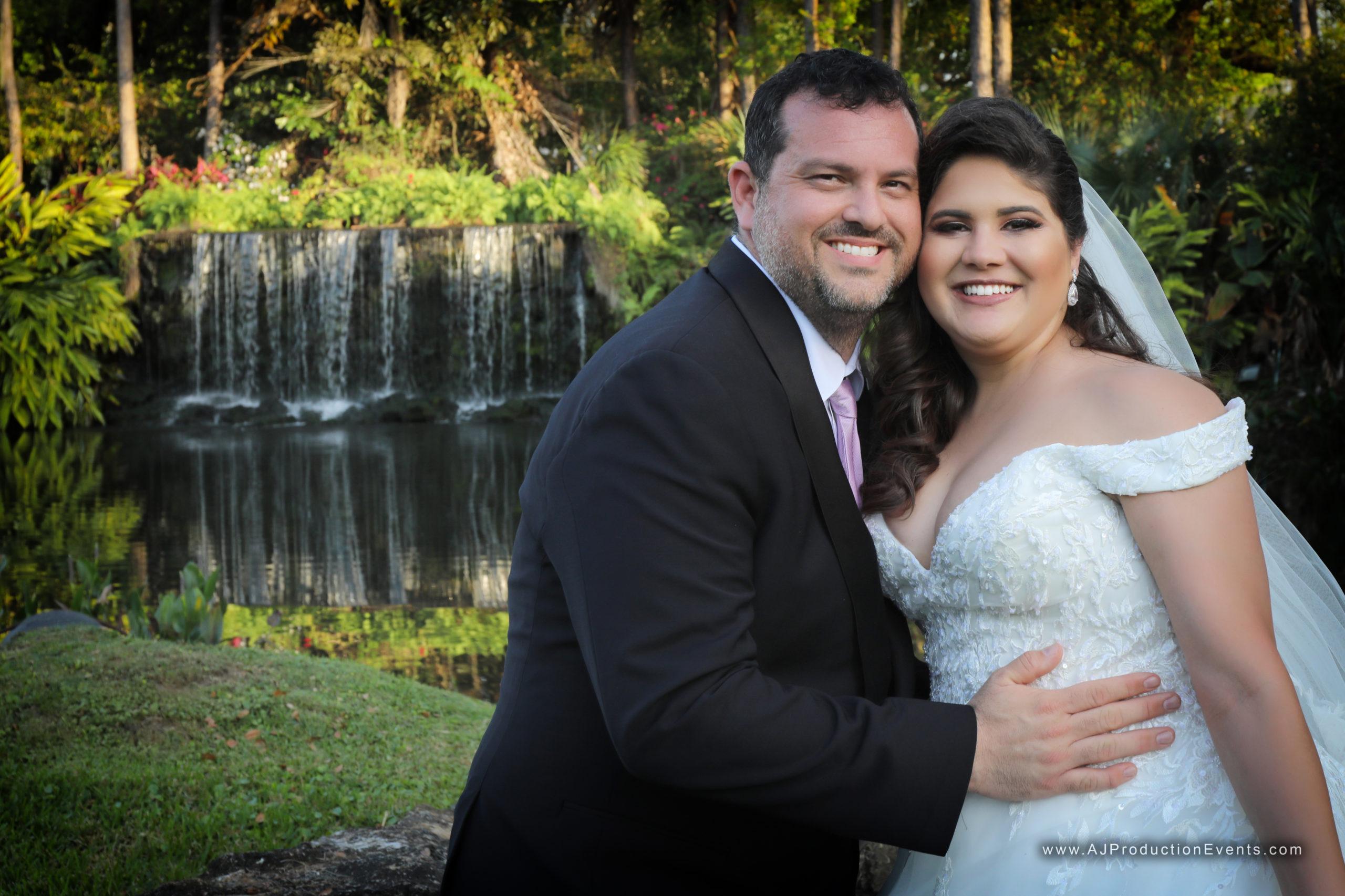 March Waterfall Wedding