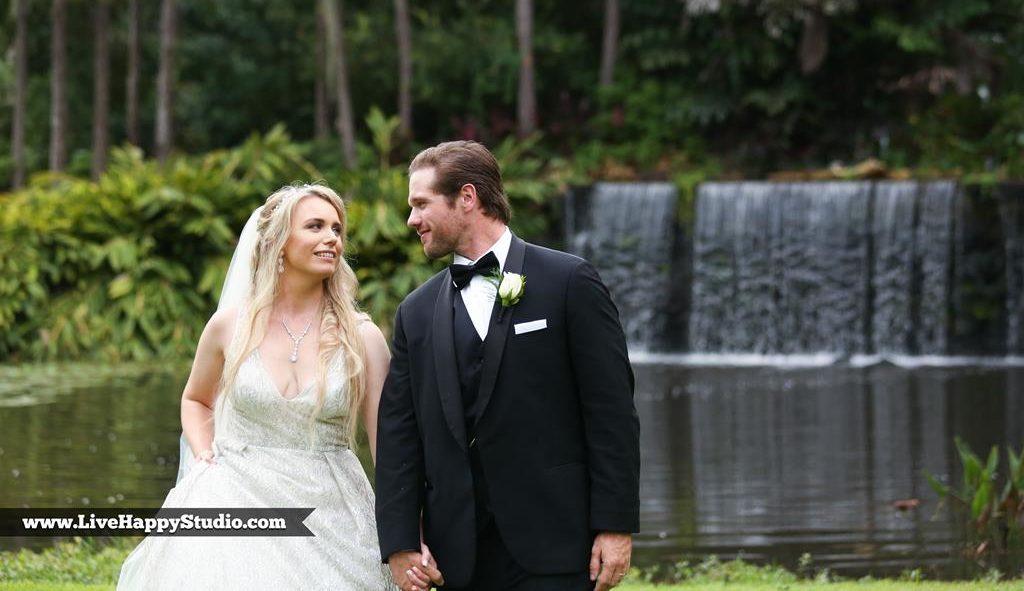 August Waterfall Wedding