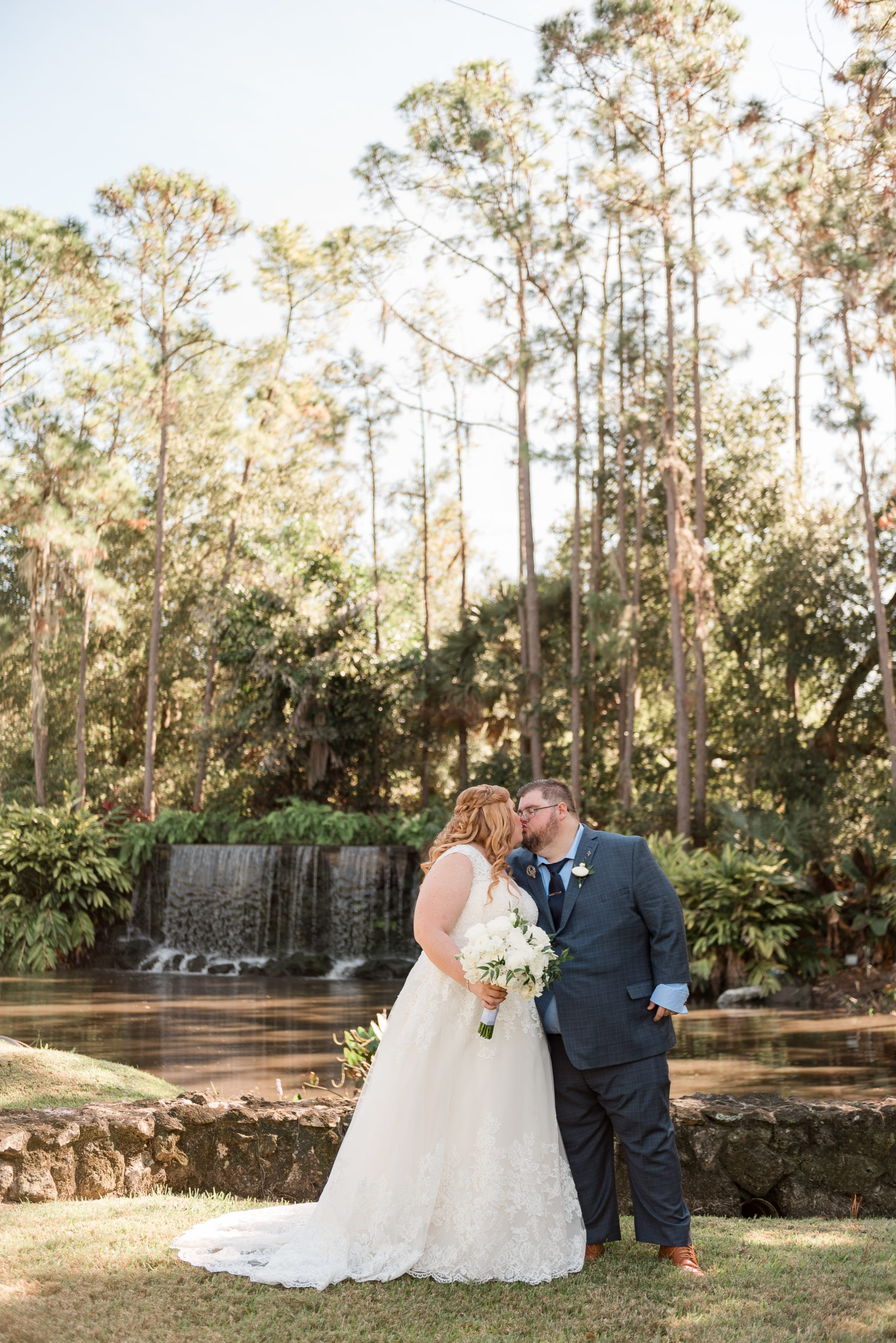 January Waterfall Wedding