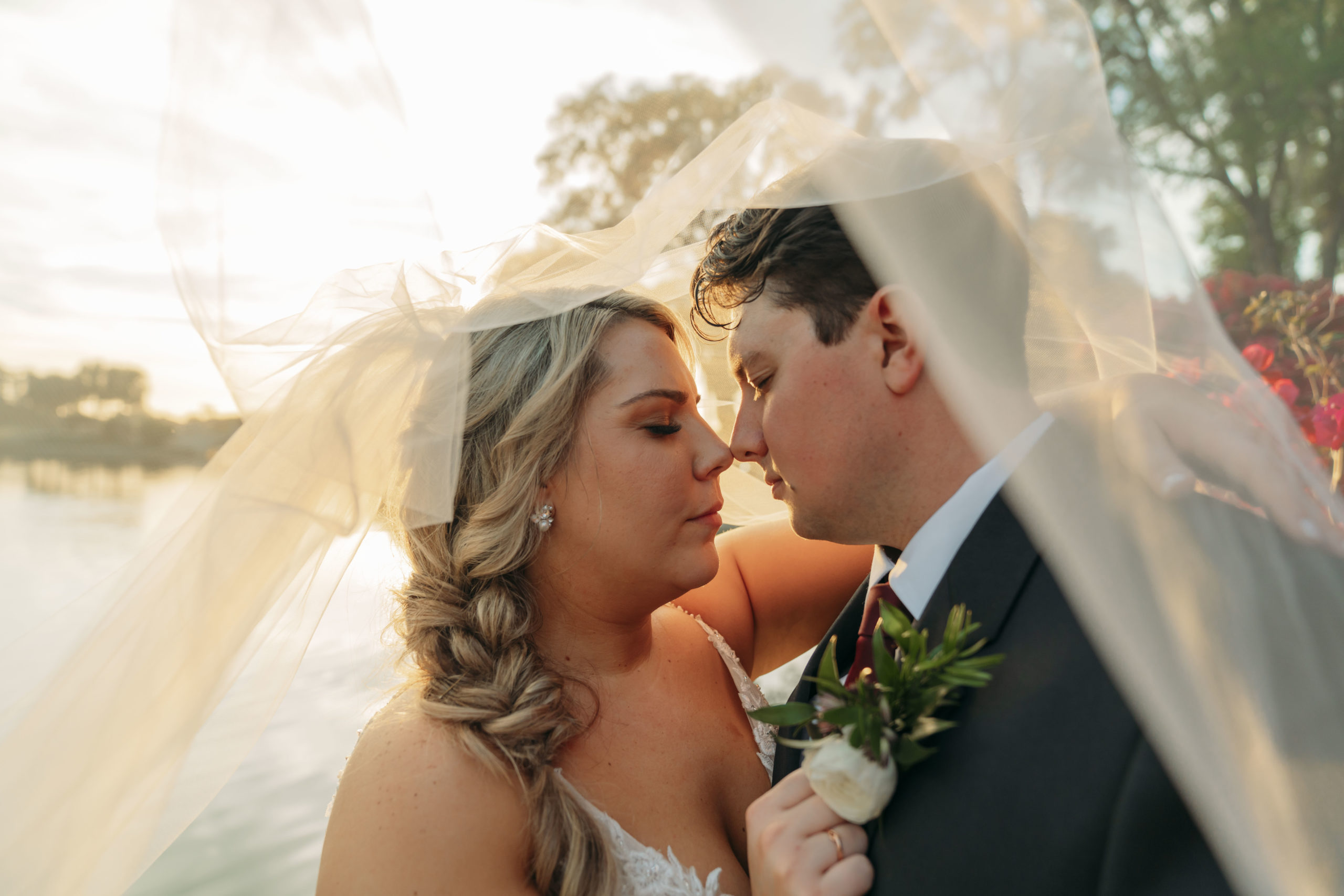 March Sunset Wedding